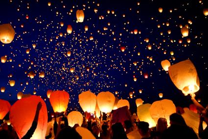 Lancio lanterne a Mioglia